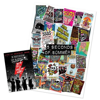 5 Seconds Of Summer Pre-Order How Did We End Up Here? Blu-Ray + Poster Bundle
