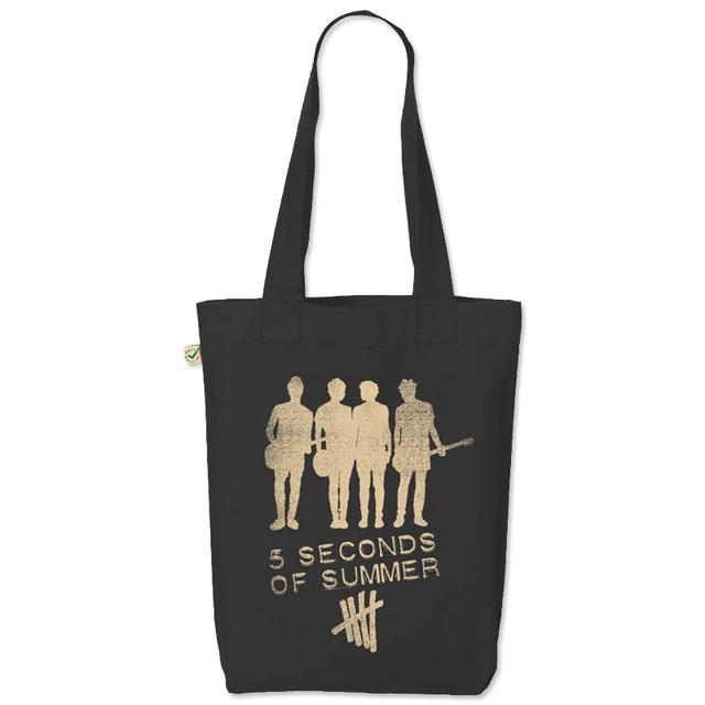 5SOS: Silhouette Black Tote Bag