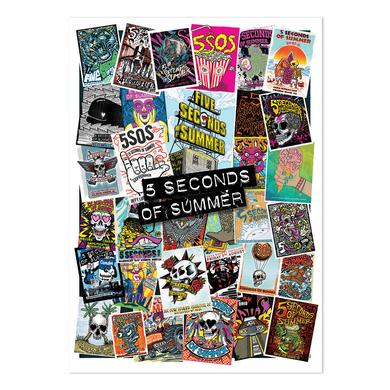 5 Seconds Of Summer Scattered 2015 Tour Poster