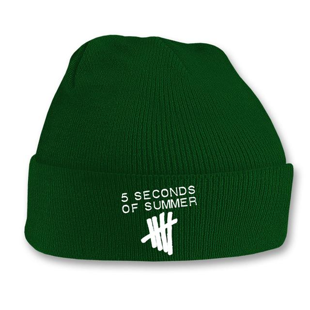 5SOS: Bottle Green Tally Logo Beanie
