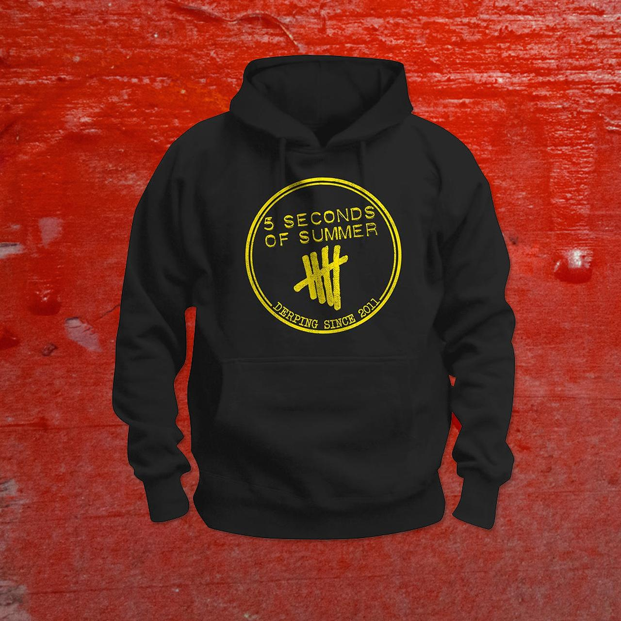This 5 Seconds of Summer fan hoodie makes the perfect 5 SOS gift for teen girls, tweens, and anyone who loves their music. It has the 5SOS band member names written in helvetica and ampersand typography: Calum, Ashton, Michael, and Luke.