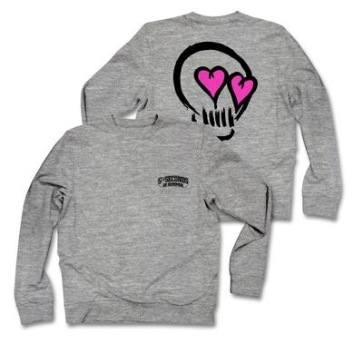 5SOS: Pink Skull Eyes Grey Sweatshirt