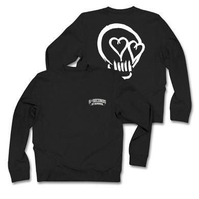 5SOS: White Skull Black Sweatshirt