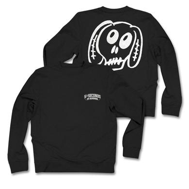5SOS: White Dog Black Sweatshirt