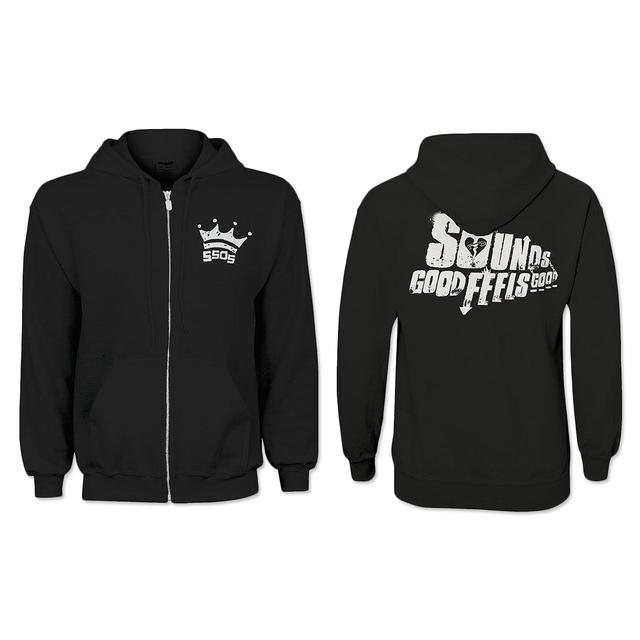 5SOS: Crown Pocket Zip Hoodie