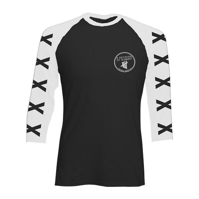 5SOS: Cross Sleeve Baseball Shirt