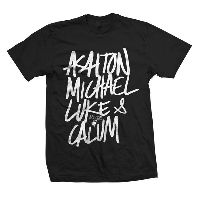 5SOS: Names Black T-Shirt