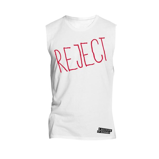 5SOS Tank Top - REJECT White Sleeveless Tee