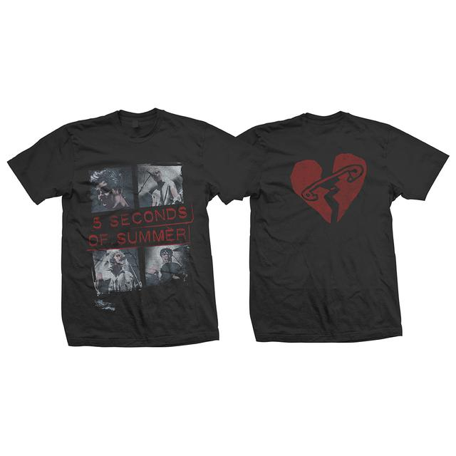 5 Seconds Of Summer Block Vintage Rock T-Shirt