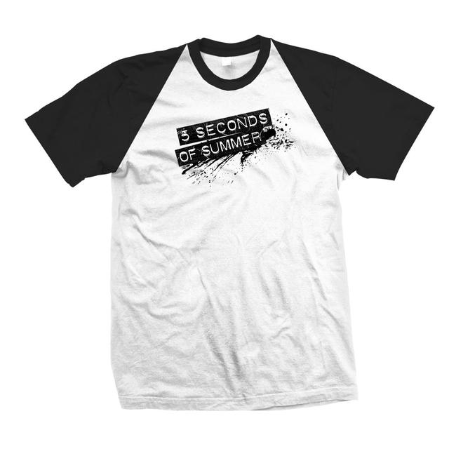 5 Seconds Of Summer Splash Logo Raglan T-Shirt