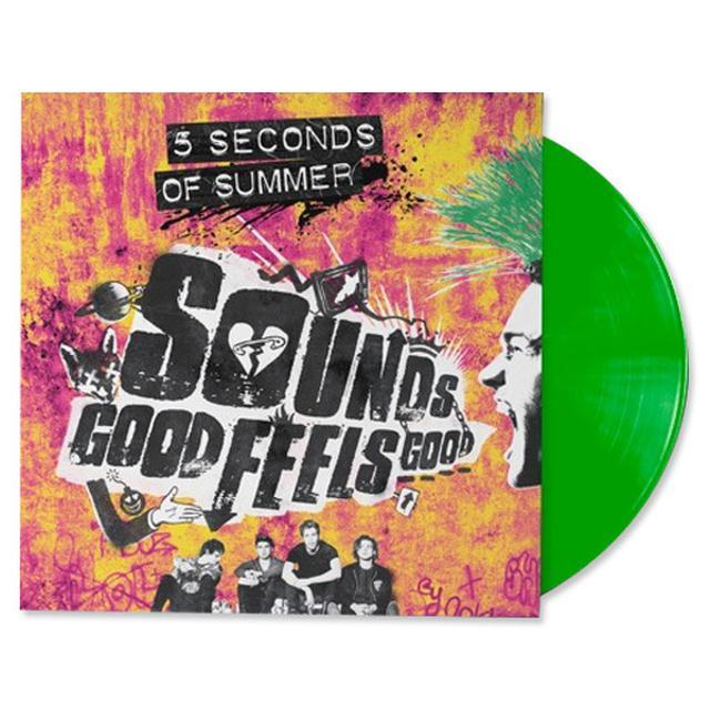 "5SOS Sounds Good Feels Good Green 12"" Vinyl"