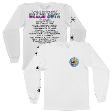 The Growlers 2018 Beach Goth Longsleeve T-Shirt - White