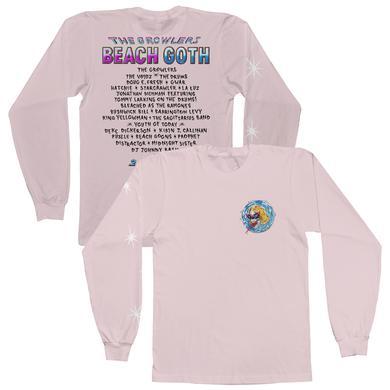 The Growlers 2018 Beach Goth Longsleeve T-Shirt - Pale Pink