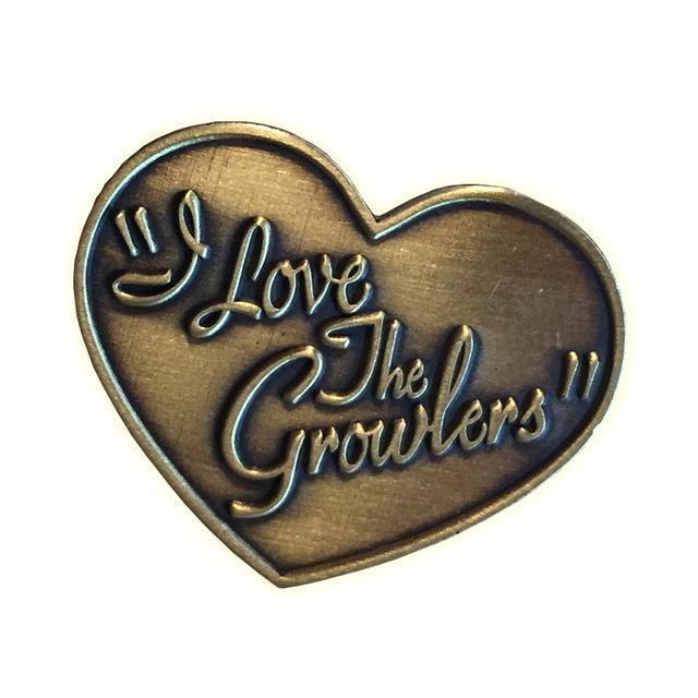I Love The Growlers Rare Heart Pin