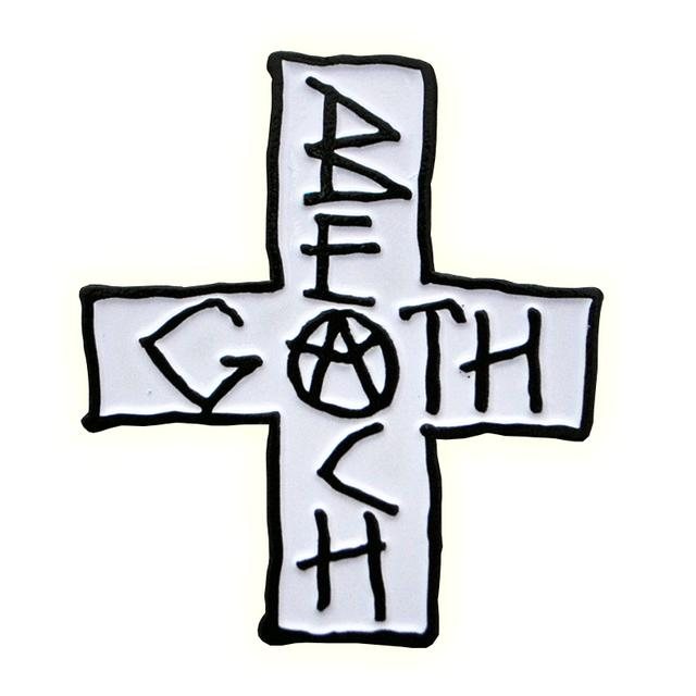 The Growlers Beach Goth Cross Metal Pin