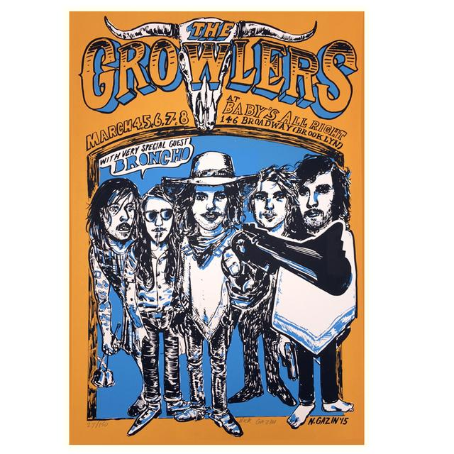 The Growlers Baby's All Right Limited Edition Show Poster
