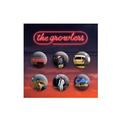 The Growlers City Club Button Set