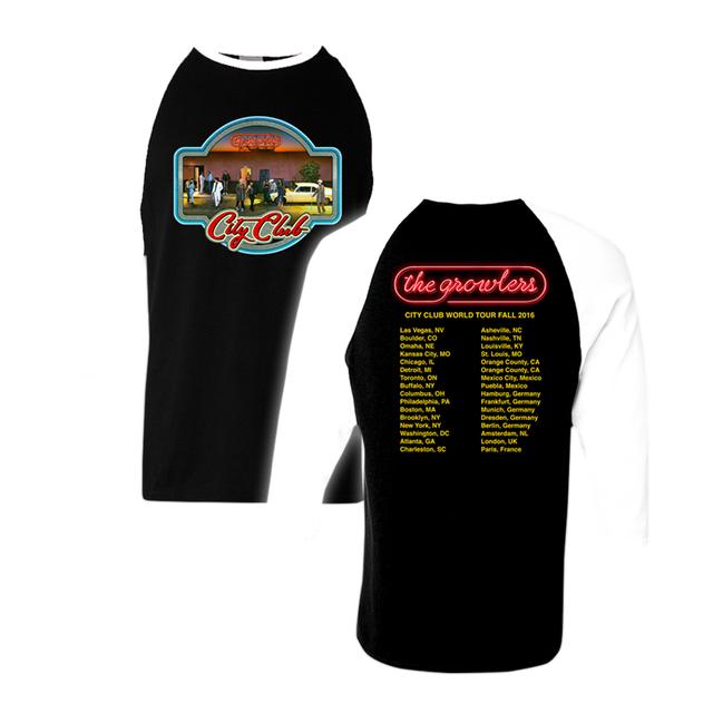 The Growlers City Club Fall Tour 2016 Iron-On Baseball T-Shirt