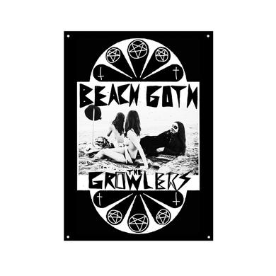 The Growlers Classic Beach Goth Wall Flag