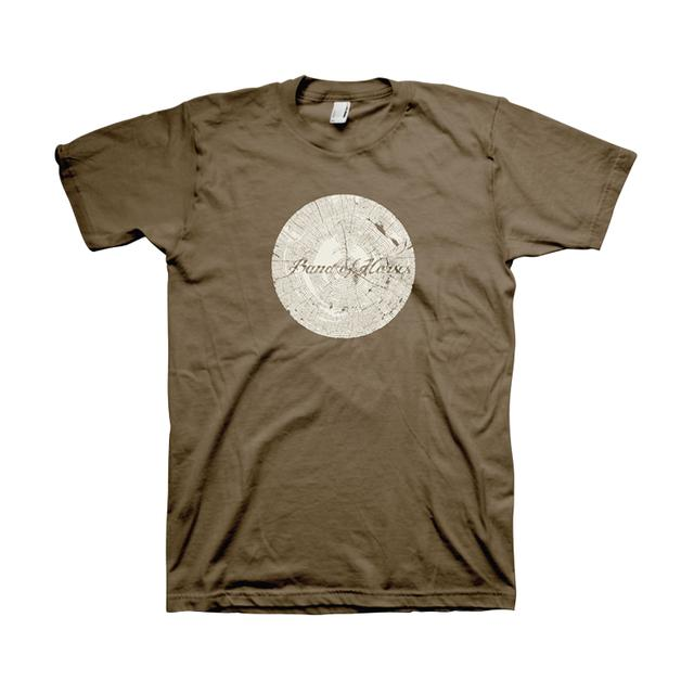 Band Of Horses Tree Rings Unisex Tee (Army)