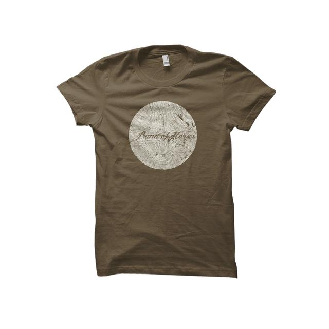 Band Of Horses Tree Rings Girls Tee (Army)