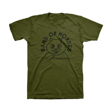 Band Of Horses Casual Cat Unisex Tee (Olive)