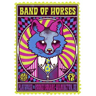 Band Of Horses Wilmington Show Poster 5/21/16