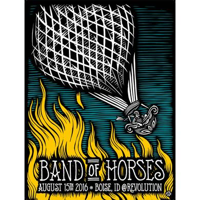 Band Of Horses Boise, ID 8/15/16 Poster