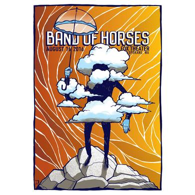 Band Of Horses Spokane, WA 8/16/16 Poster