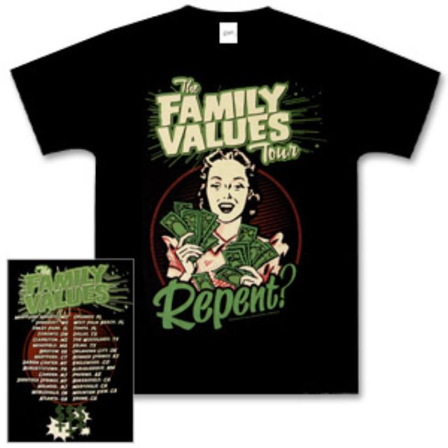 Family Values Tour  Repent Tee