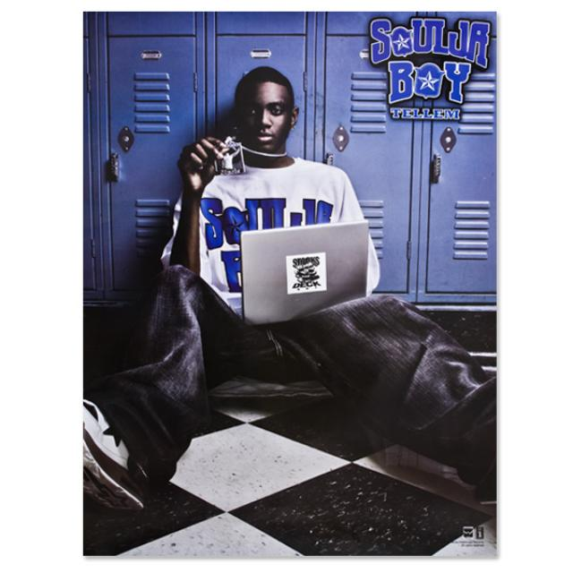 Soulja Boy Tell 'Em Sitting White Tee Poster