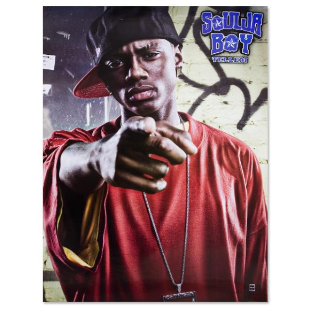 Soulja Boy Tell 'Em Tell 'Em Red Tee Poster