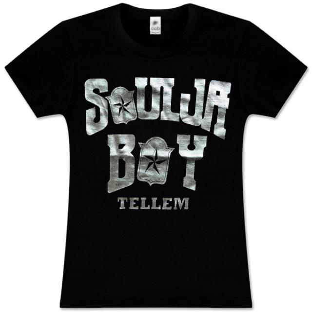 Soulja Boy Tell 'Em Foil Logo Women's Tee,