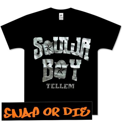 Soulja Boy in Silver Snap or Die on Back Tee