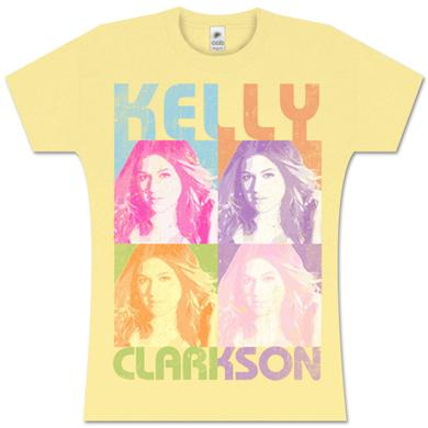 Kelly Clarkson Warhol Yellow Girlie T-Shirt