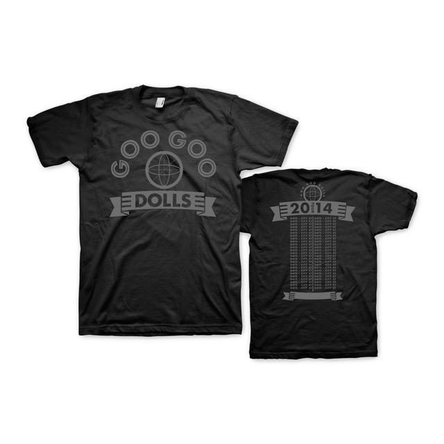 Goo Goo Dolls Stamped Adult Tour T-Shirt