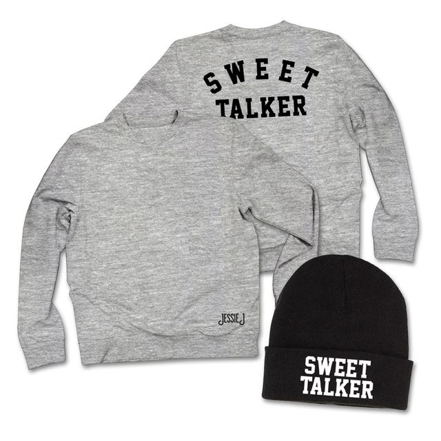 Jessie J Sweet Talker Sweatshirt + Beanie Hat Bundle