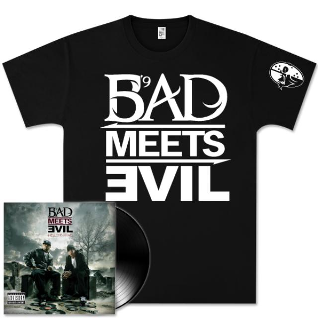 Bad Meets Evil - Hell: The Sequel 2 LP Vinyl/T-Shirt Bundle