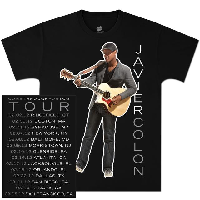 Javier Colon Standing Guitar Tour T-Shirt