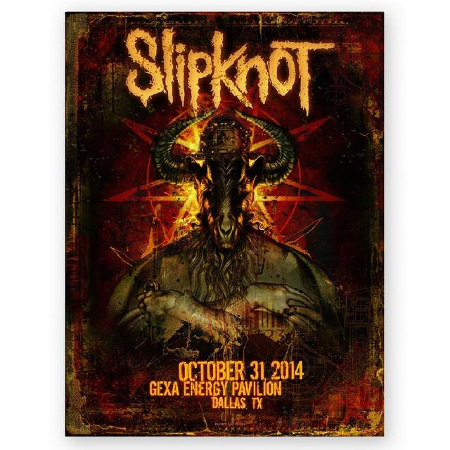 Knotfest Slipknot Dallas Event Poster