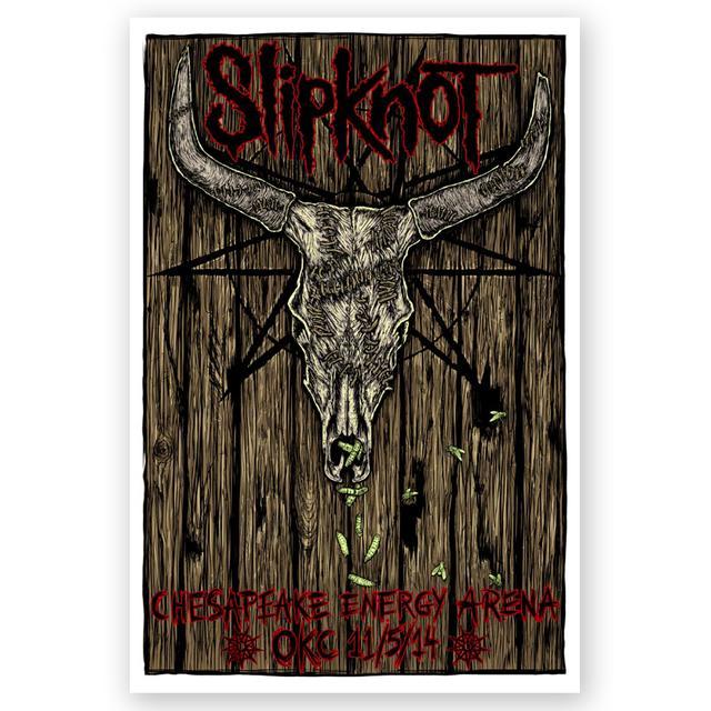 Knotfest Slipknot OKC Event Poster