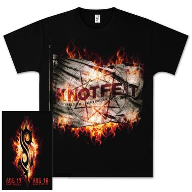 Knotfest Fire Flag T-Shirt