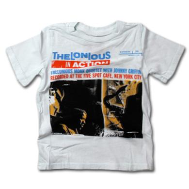 Friend Or Foe Thelonious Monk Action Youth T-Shirt on Star White
