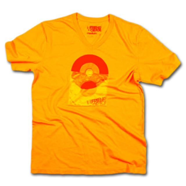 Friend Or Foe 45 RPM T-Shirt on Orange