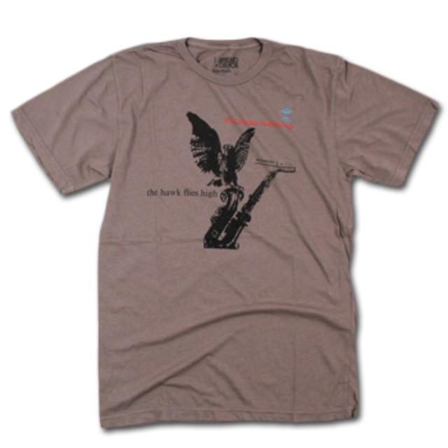 Friend Or Foe Hawk T-Shirt on Brown