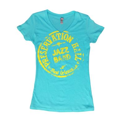 Preservation Hall Jazz Band Womens PHJB Drum Logo V-Neck