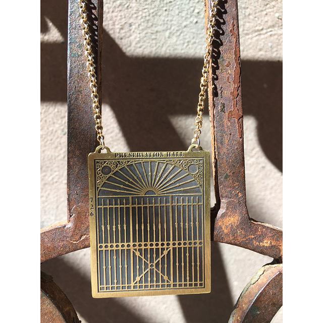 Preservation Hall Jazz Band Gate Necklace