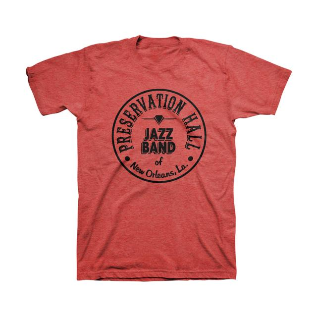 Preservation Hall Jazz Band Mens PHJB Drum Logo Tee (Red)