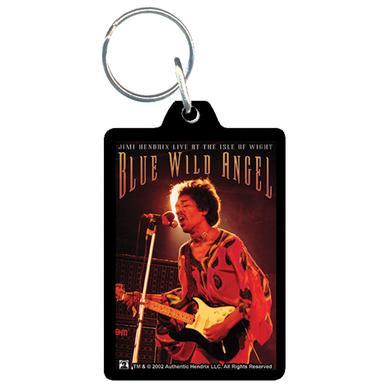 Jimi Hendrix Acrylic Keychain Blue Wild Angel