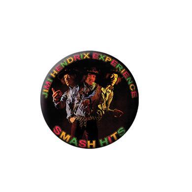 Jimi Hendrix Smash Hits Round Magnet